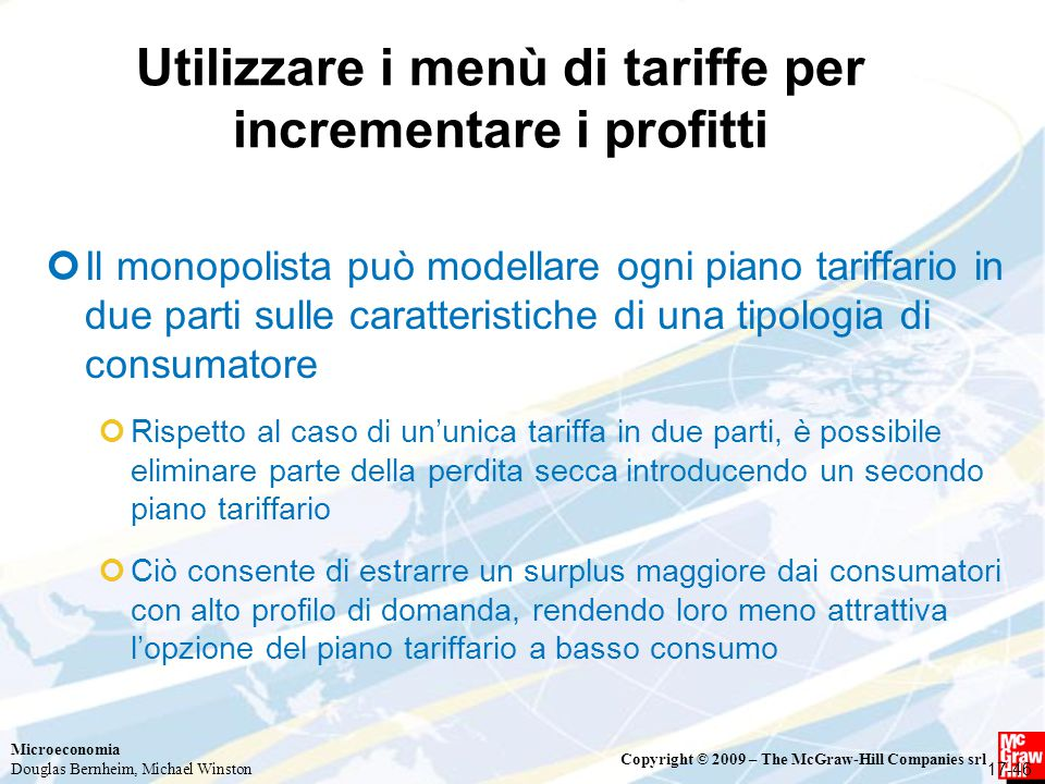 Utilizzare i menù di tariffe per incrementare i profitti