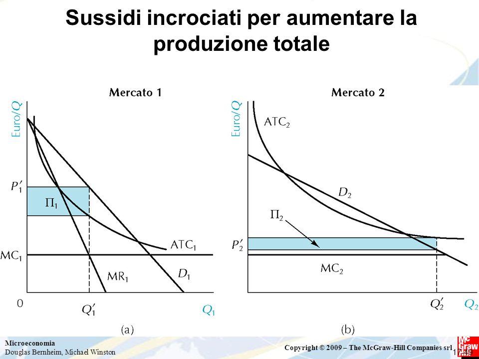 Sussidi incrociati per aumentare la produzione totale