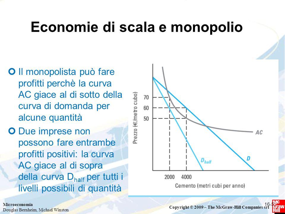Economie di scala e monopolio
