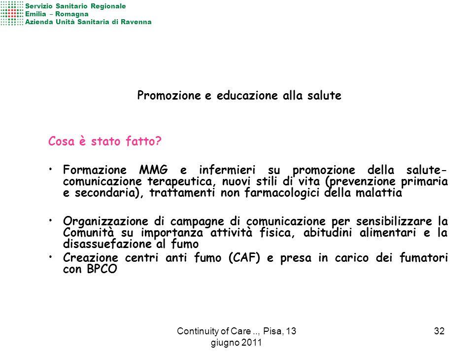Attivazione Ambulatorio di Patologia Cronica