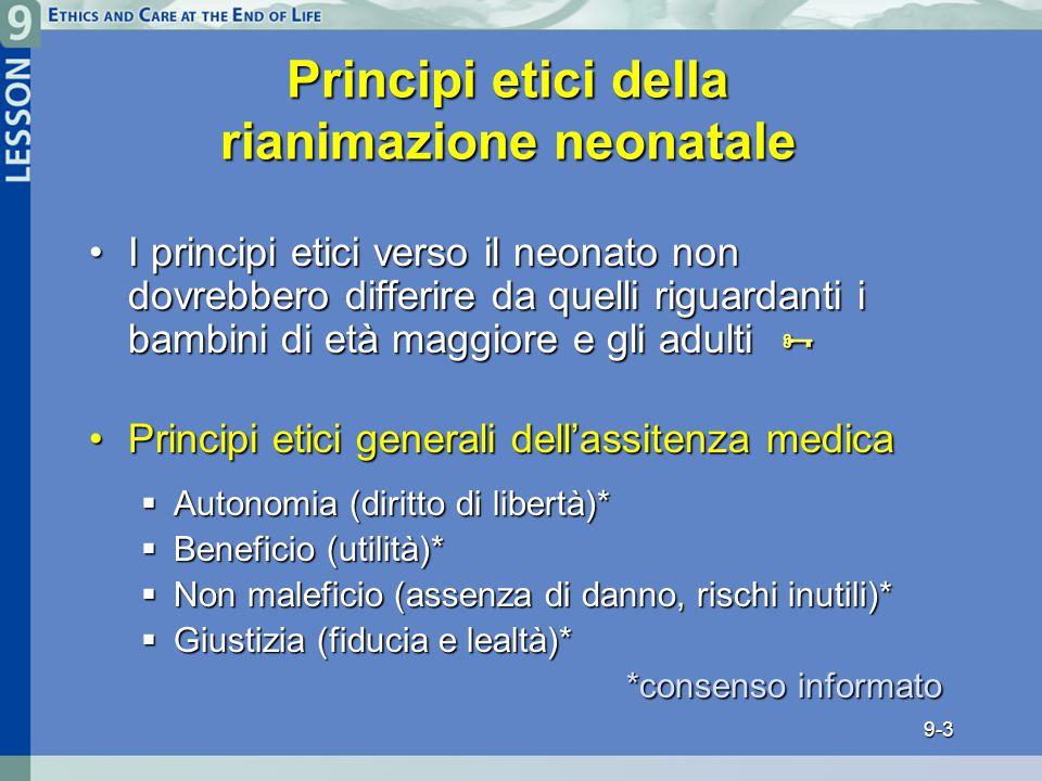 Principi etici della rianimazione neonatale