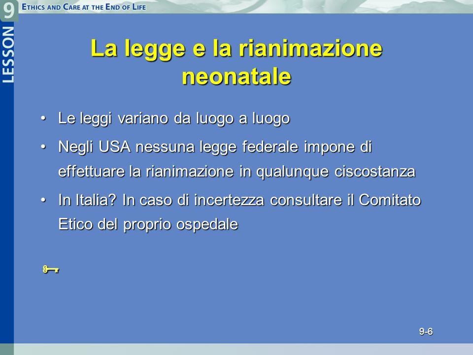 La legge e la rianimazione neonatale