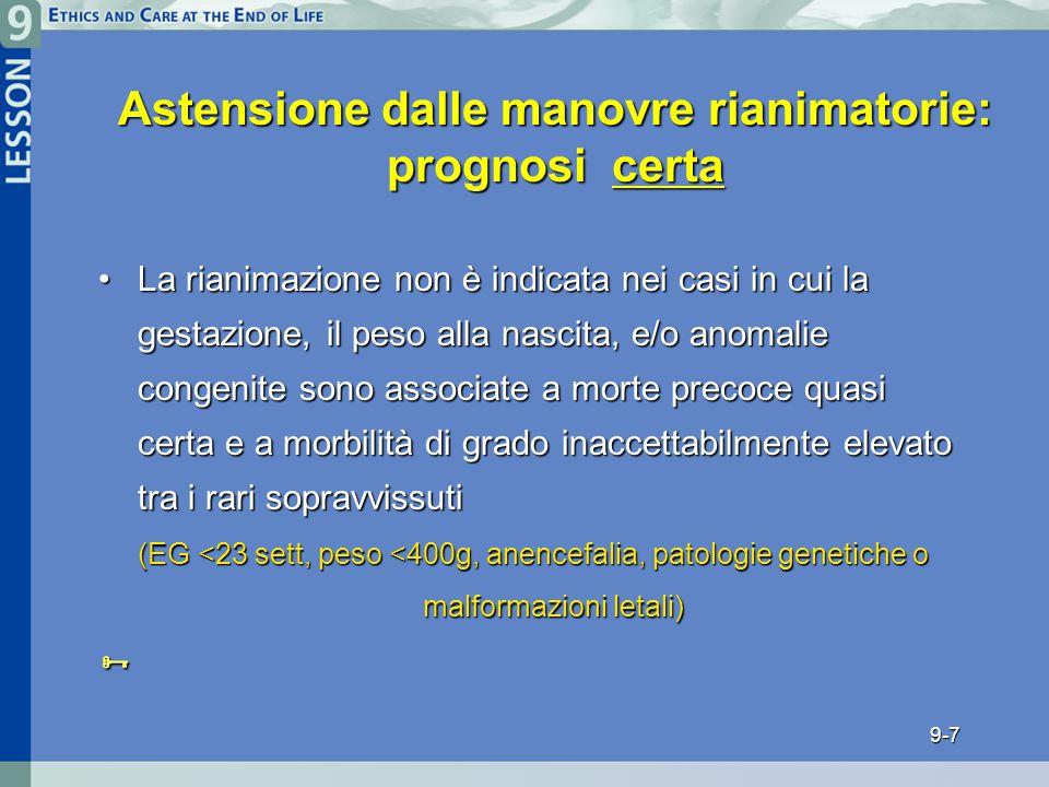 Astensione dalle manovre rianimatorie: prognosi certa