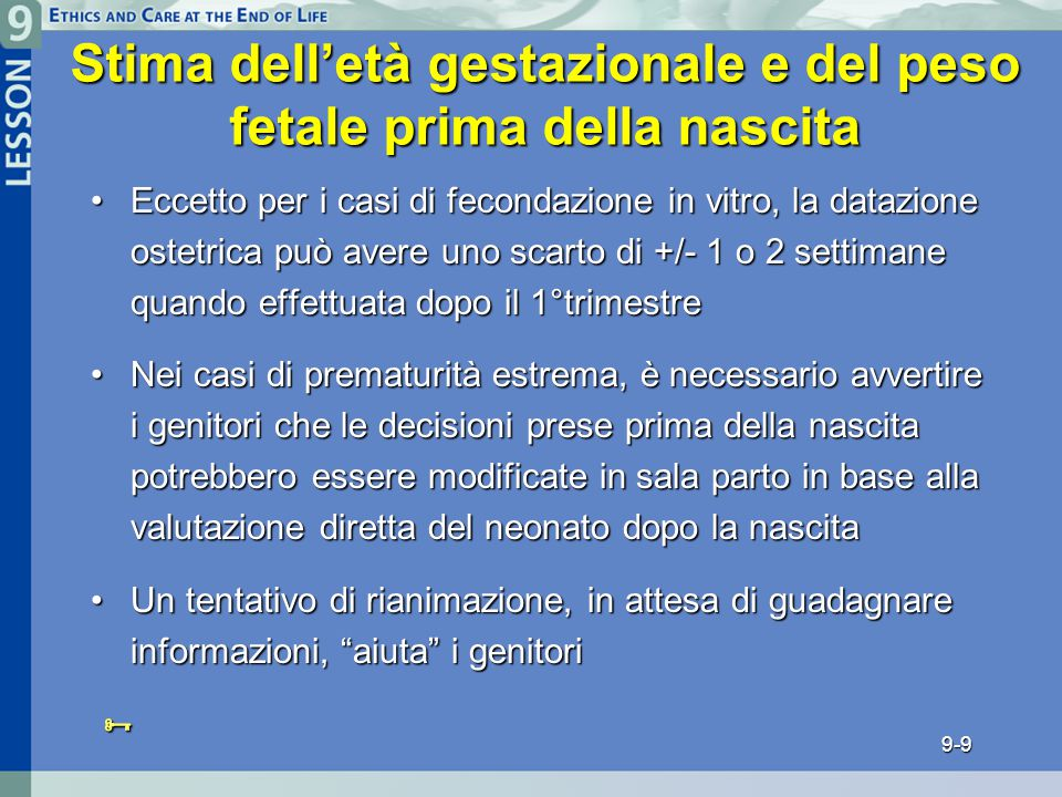 Stima dell'età gestazionale e del peso fetale prima della nascita