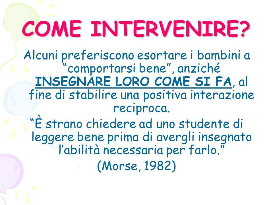 COME INTERVENIRE
