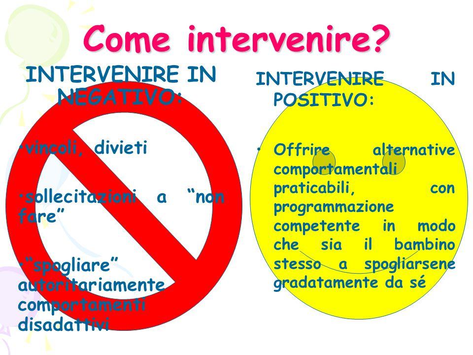 INTERVENIRE IN NEGATIVO: