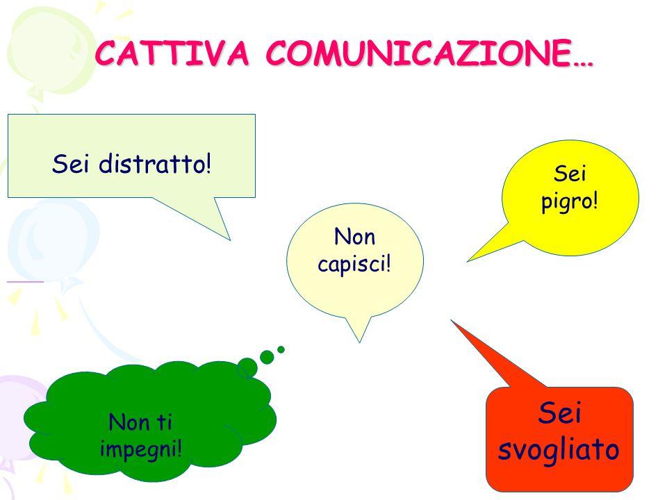 CATTIVA COMUNICAZIONE…