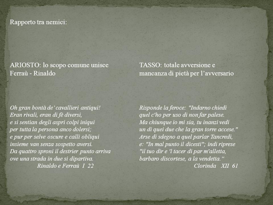 ARIOSTO: lo scopo comune unisce Ferraù - Rinaldo