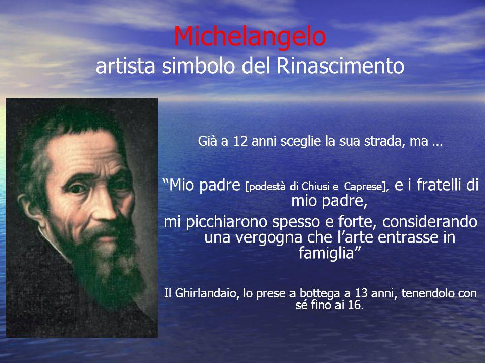 Michelangelo artista simbolo del Rinascimento