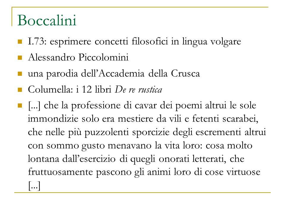Boccalini I.73: esprimere concetti filosofici in lingua volgare