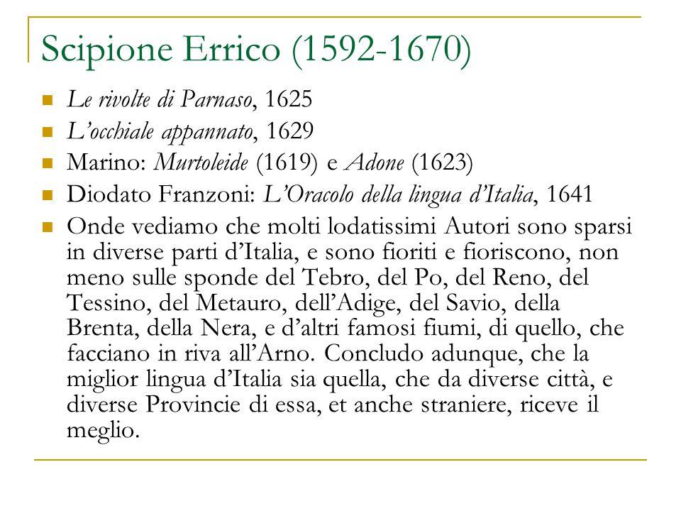 Scipione Errico (1592-1670) Le rivolte di Parnaso, 1625