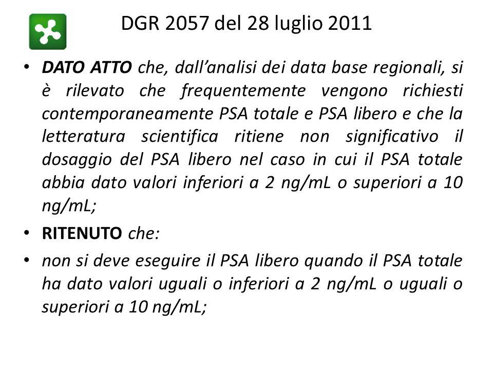DGR 2057 del 28 luglio 2011