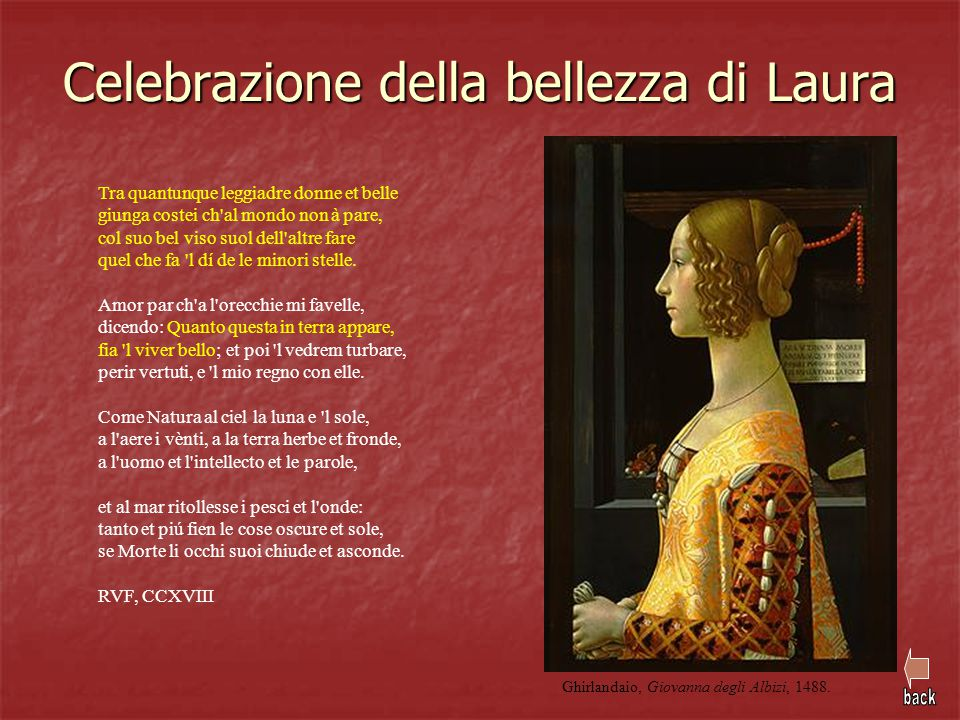 Celebrazione della bellezza di Laura