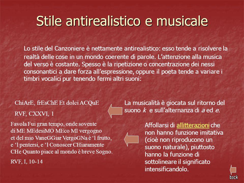 Stile antirealistico e musicale