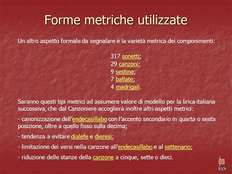 Forme metriche utilizzate