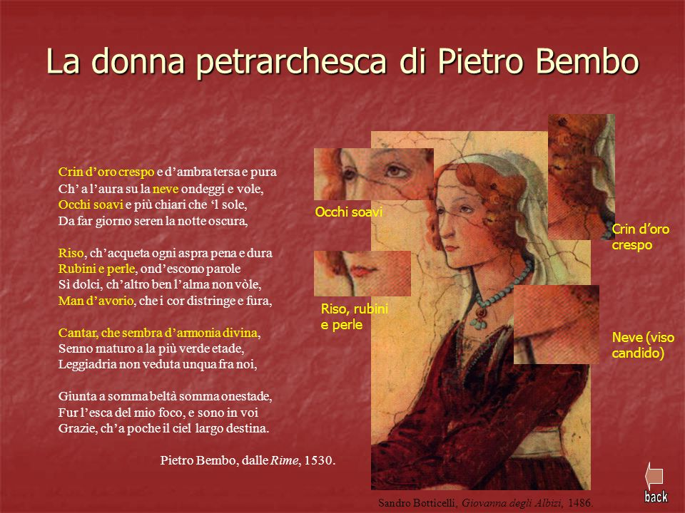 La donna petrarchesca di Pietro Bembo