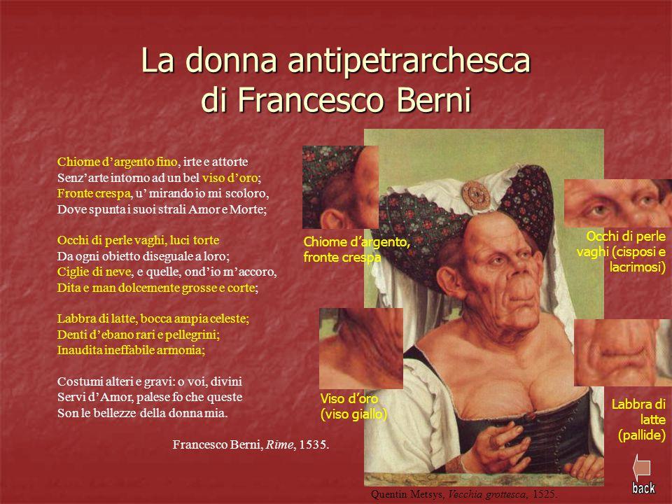 La donna antipetrarchesca di Francesco Berni