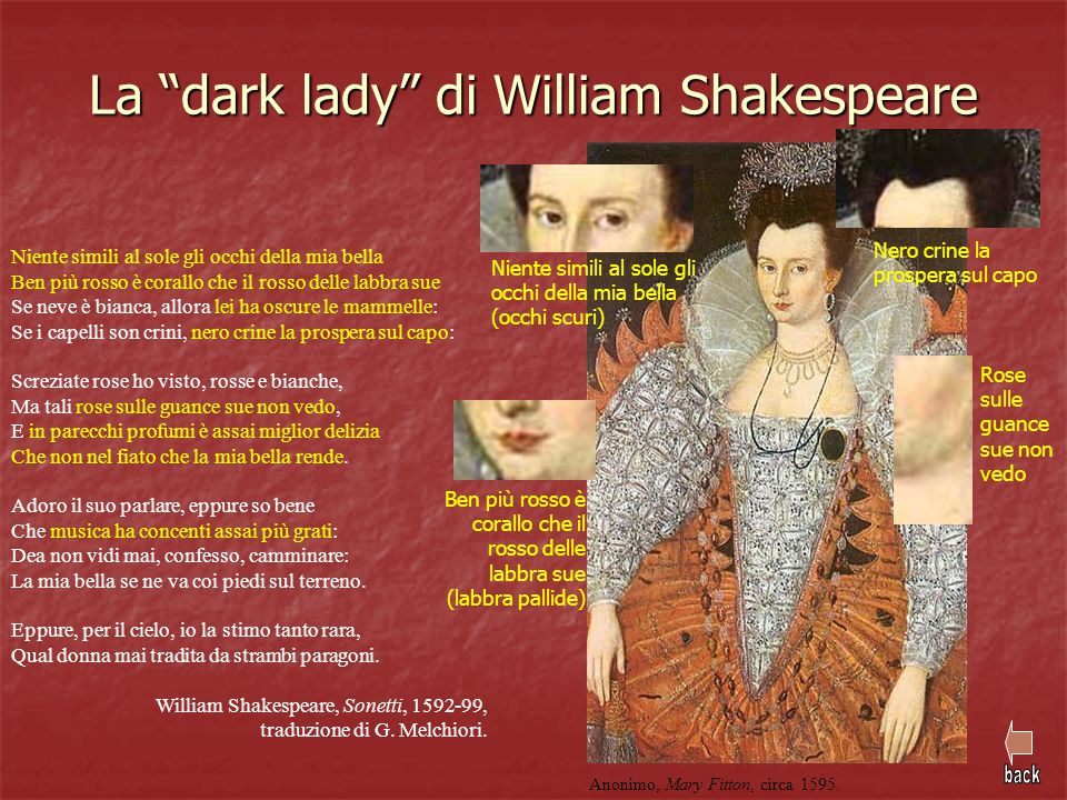 La dark lady di William Shakespeare