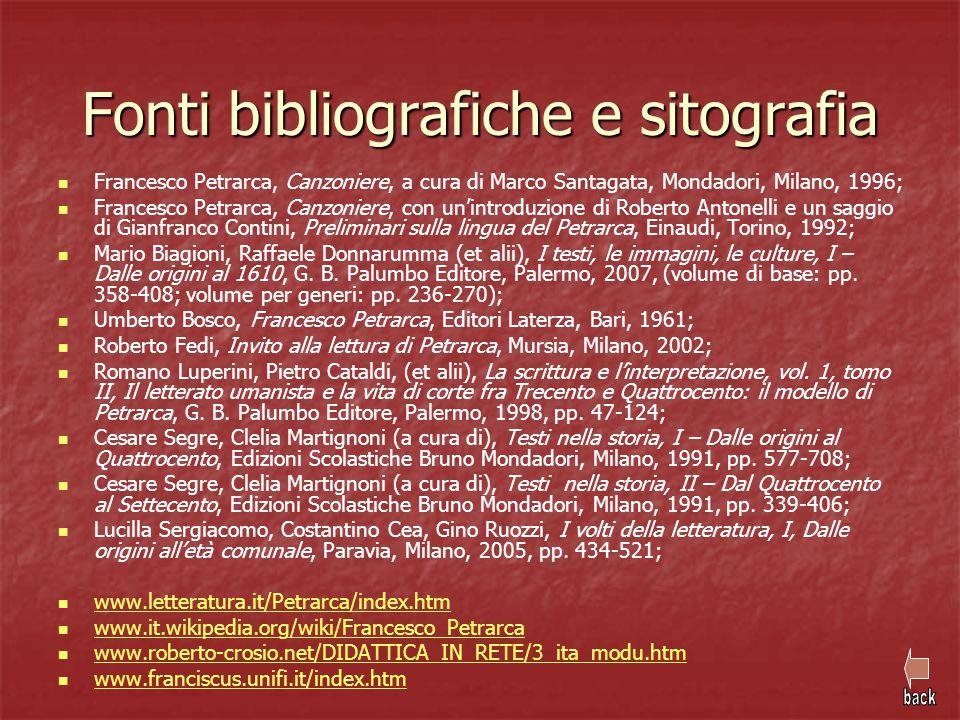 Fonti bibliografiche e sitografia