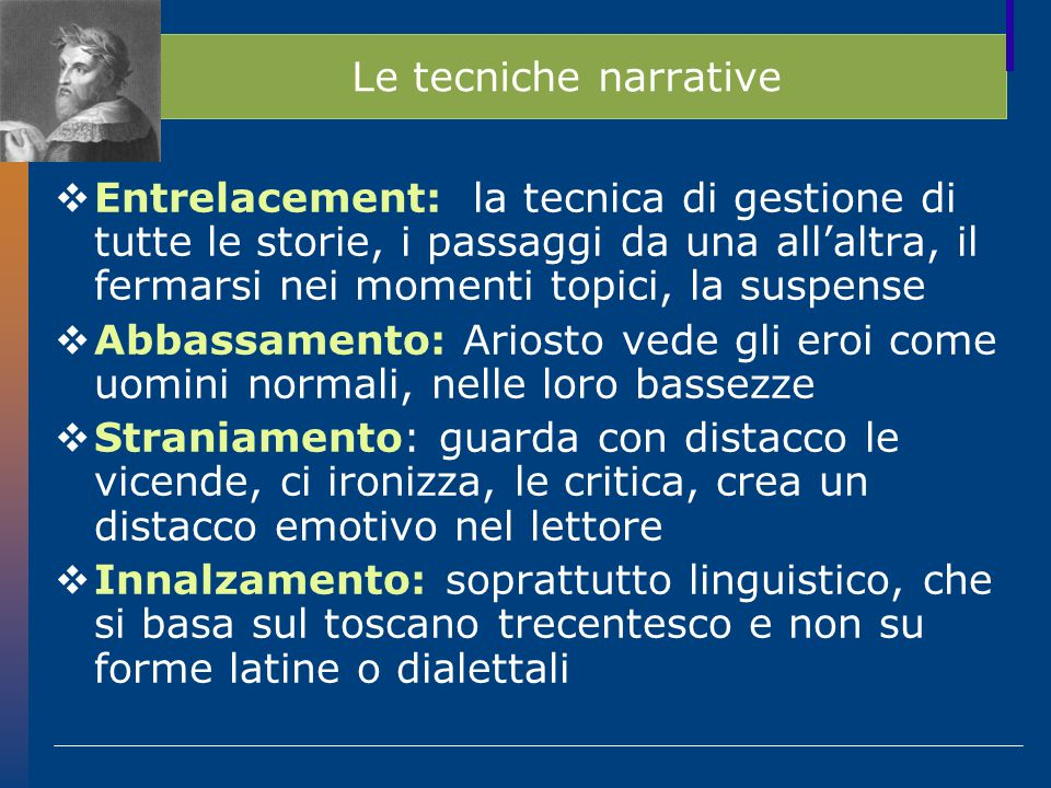 Le tecniche narrative