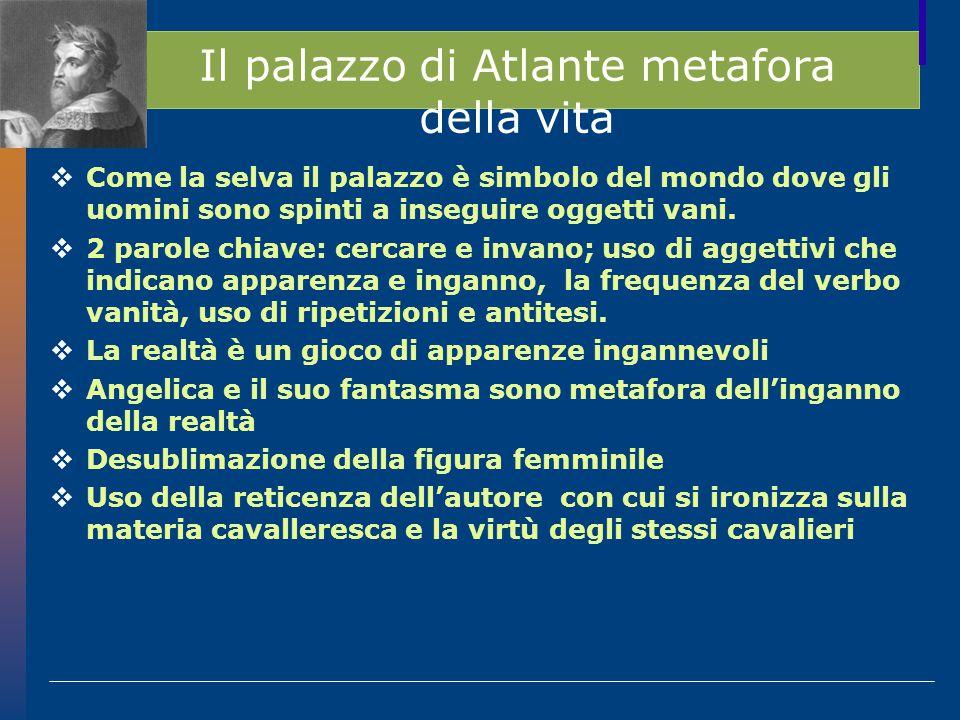 Il palazzo di Atlante metafora della vita