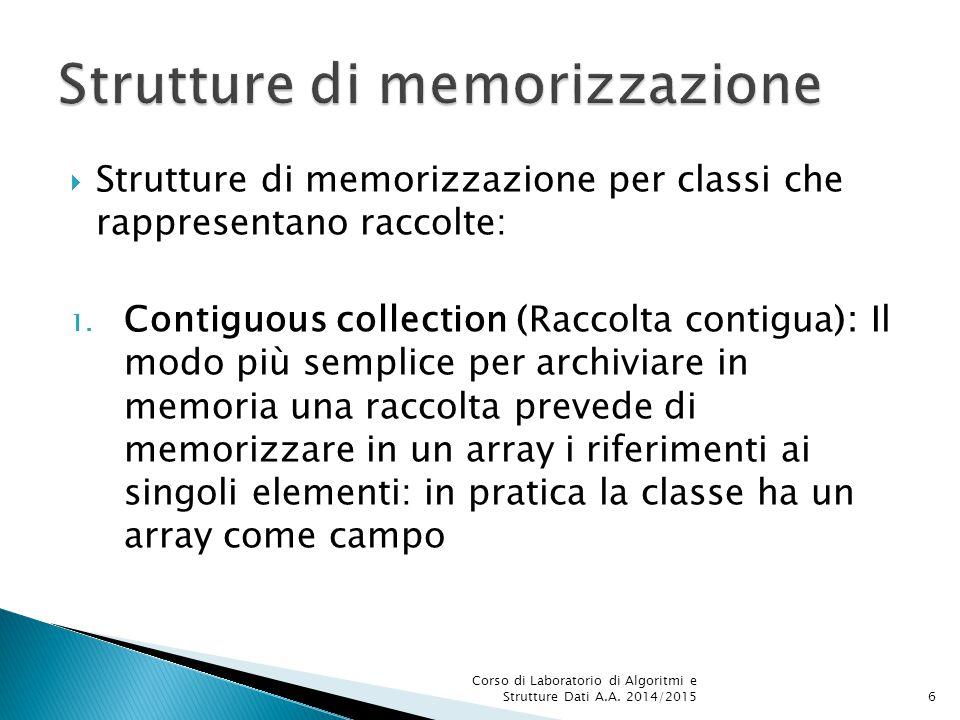 Strutture di memorizzazione