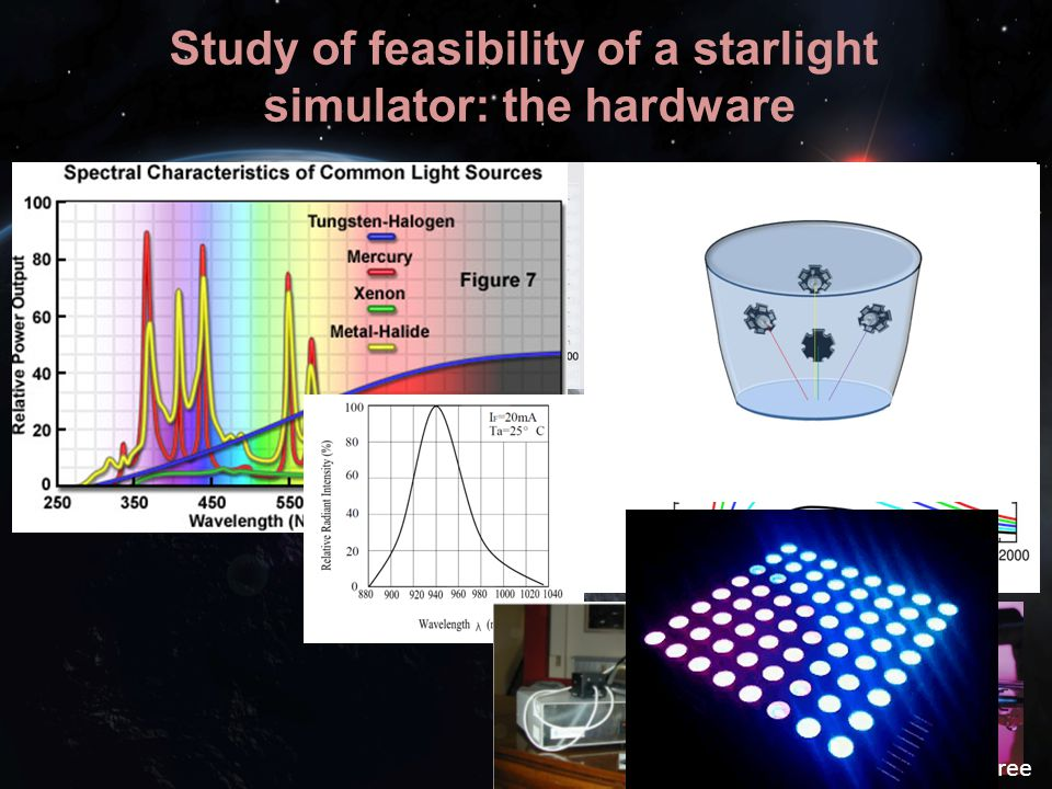 Study of feasibility of a starlight simulator: the hardware