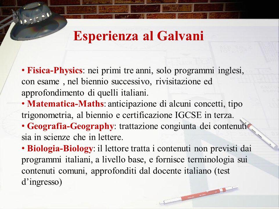 Esperienza al Galvani