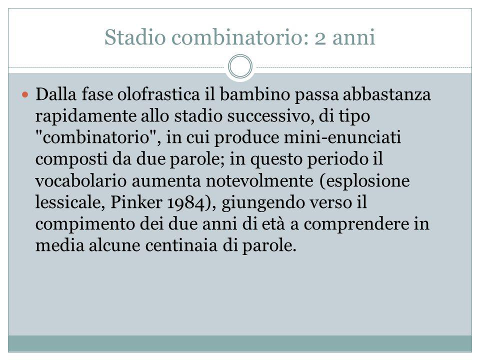 Stadio combinatorio: 2 anni