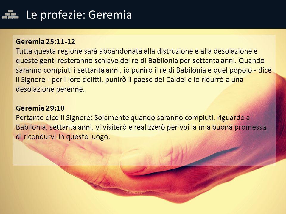 Le profezie: Geremia Geremia 25:11-12