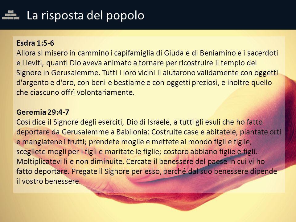 La risposta del popolo Esdra 1:5-6