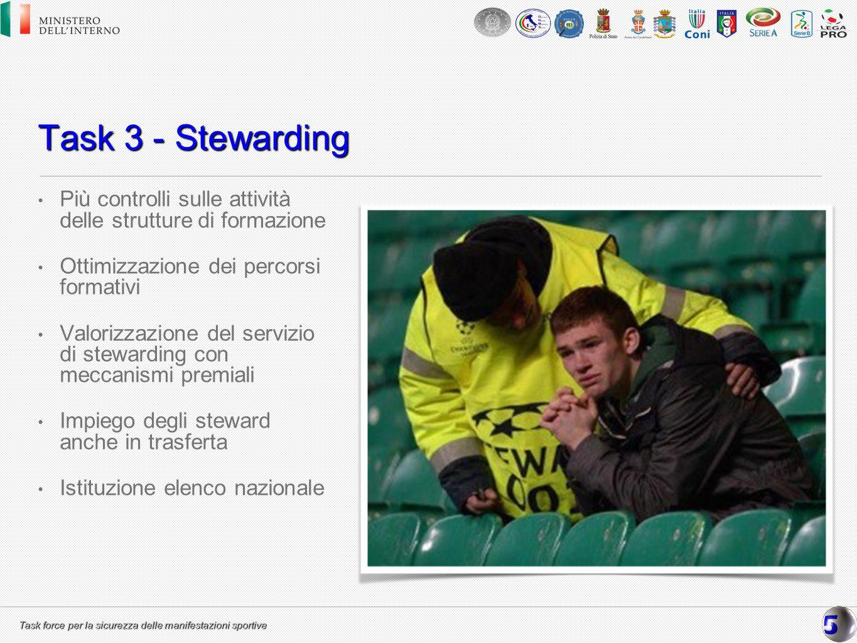 Task 3 - Stewarding Più controlli sulle attività delle strutture di formazione. Ottimizzazione dei percorsi formativi.