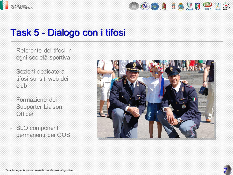 Task 5 - Dialogo con i tifosi