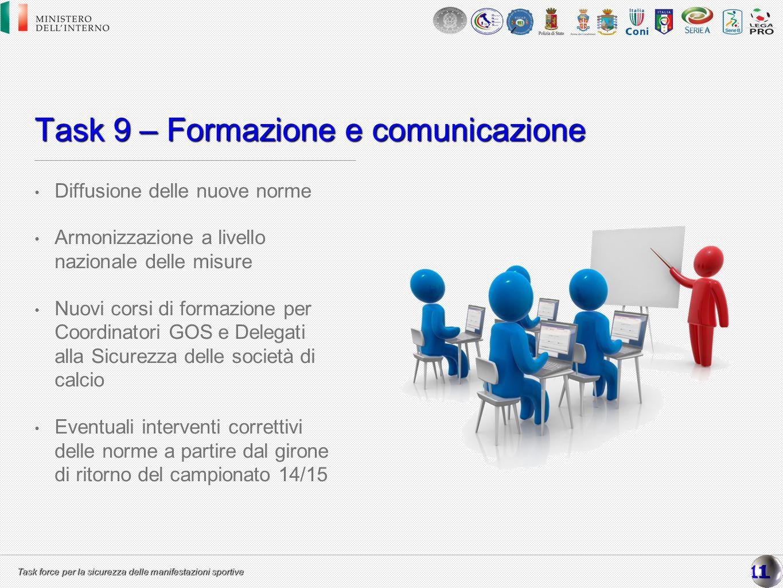 Task 9 – Formazione e comunicazione