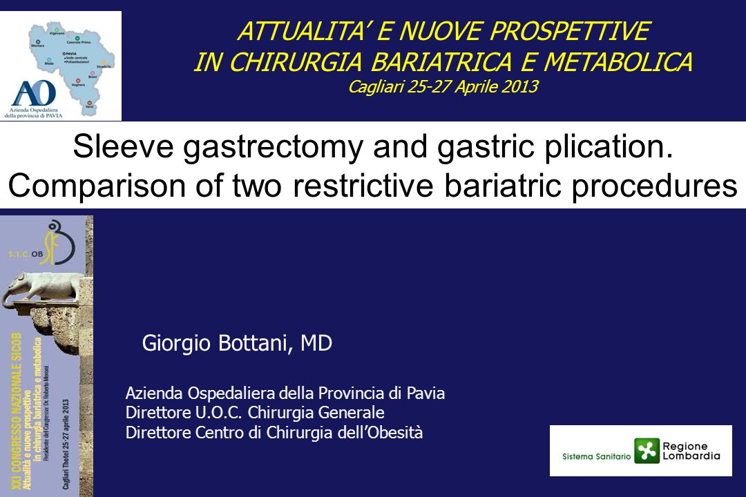 Sleeve gastrectomy and gastric plication.