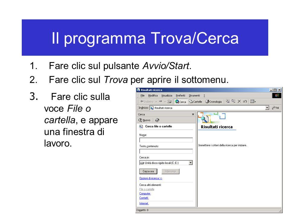 Il programma Trova/Cerca