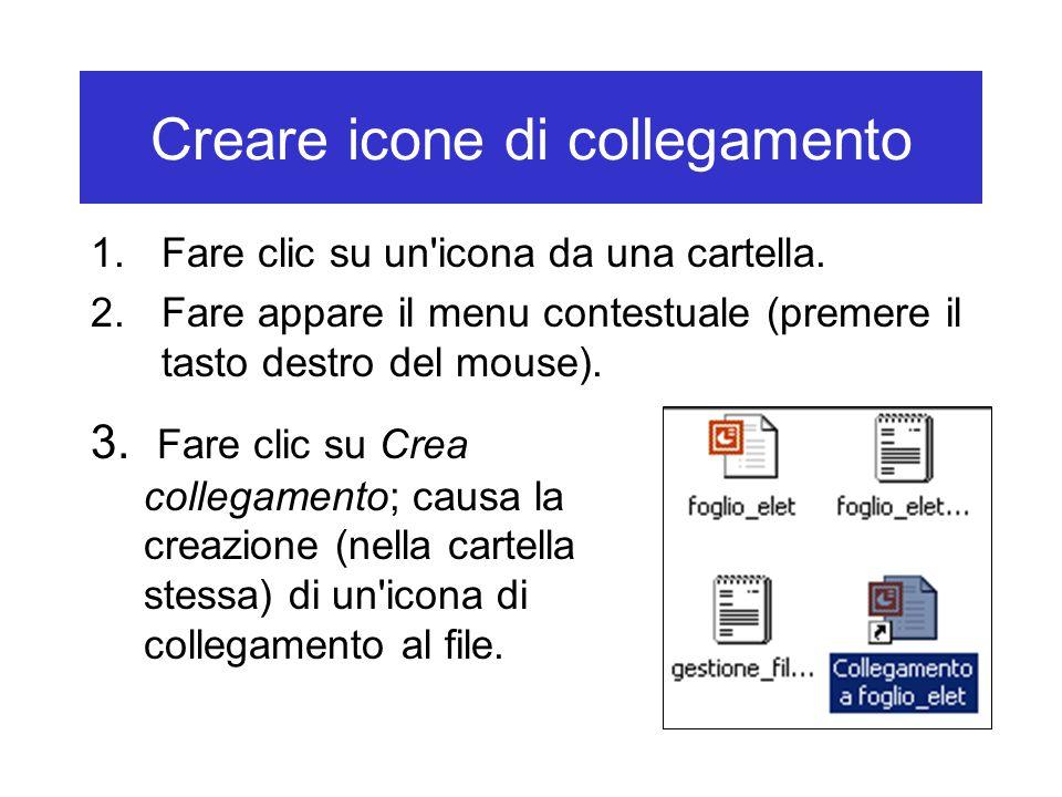 Creare icone di collegamento