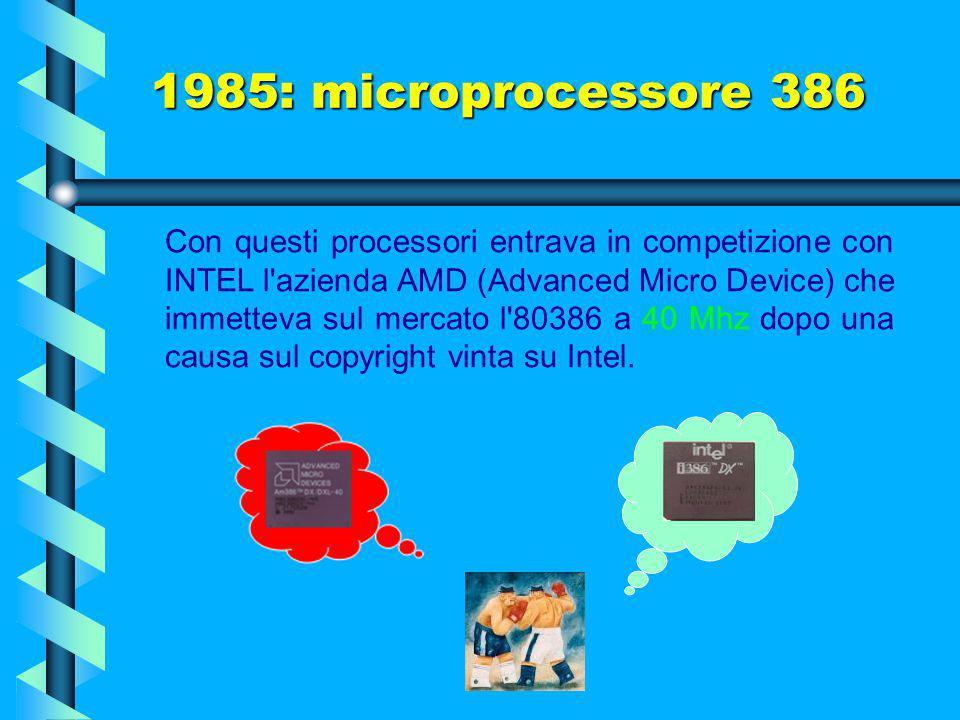 1985: microprocessore 386