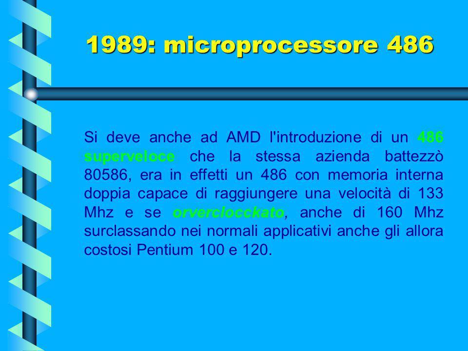 1989: microprocessore 486