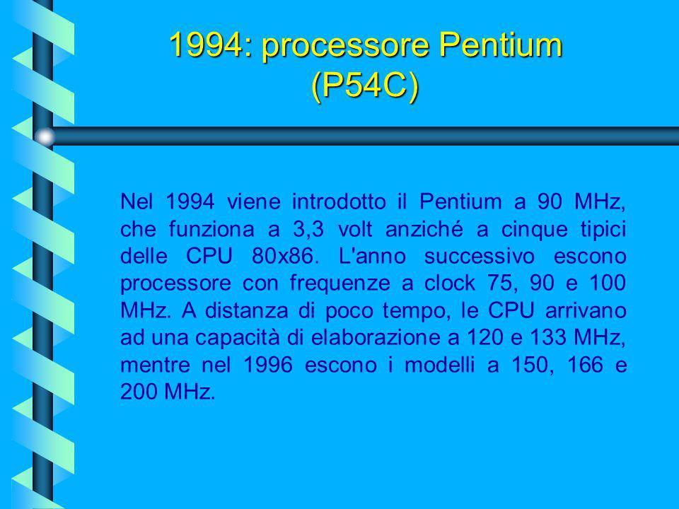 1994: processore Pentium (P54C)