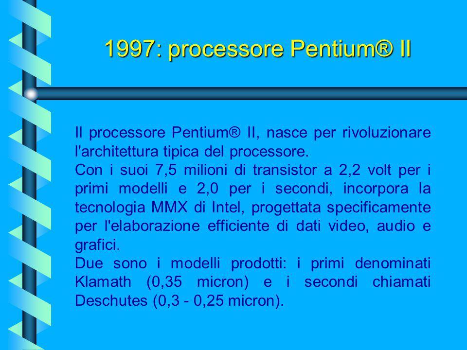 1997: processore Pentium® II