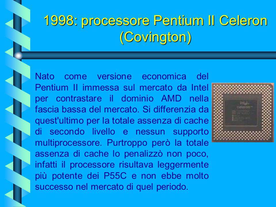 1998: processore Pentium II Celeron (Covington)