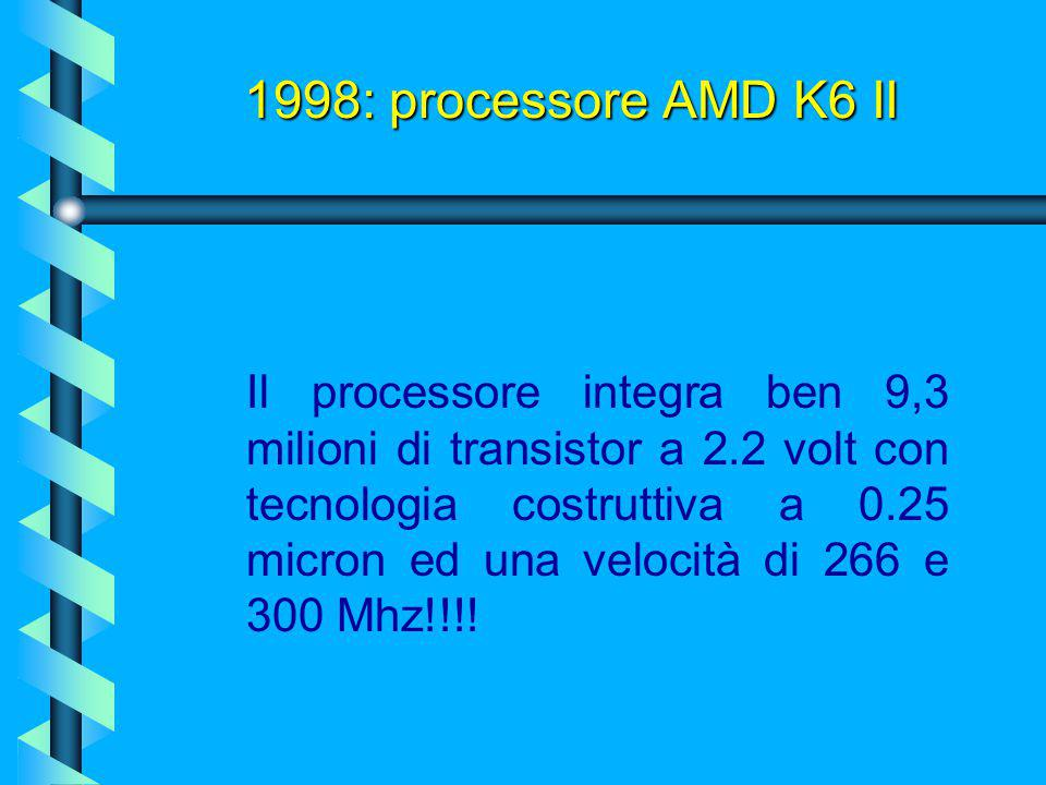 1998: processore AMD K6 II