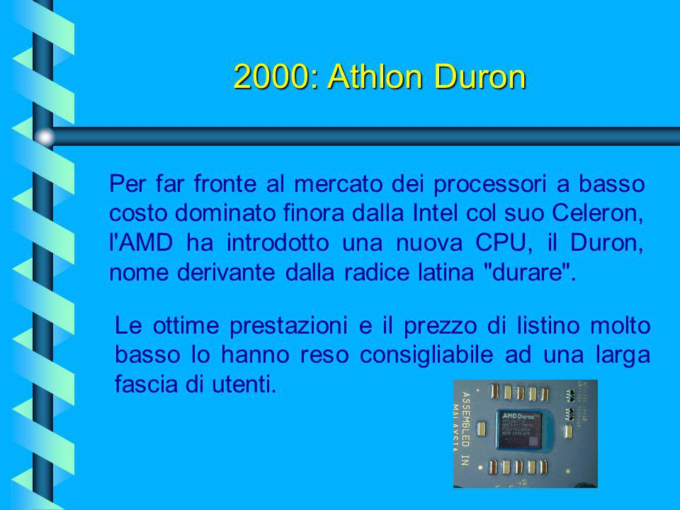 2000: Athlon Duron