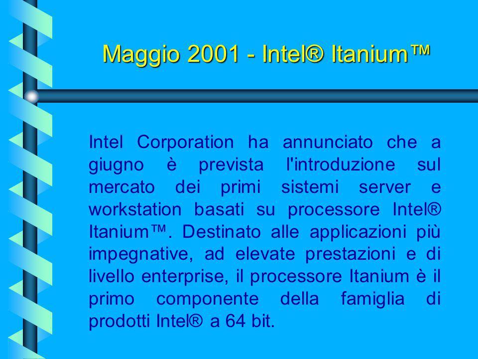Maggio 2001 - Intel® Itanium™