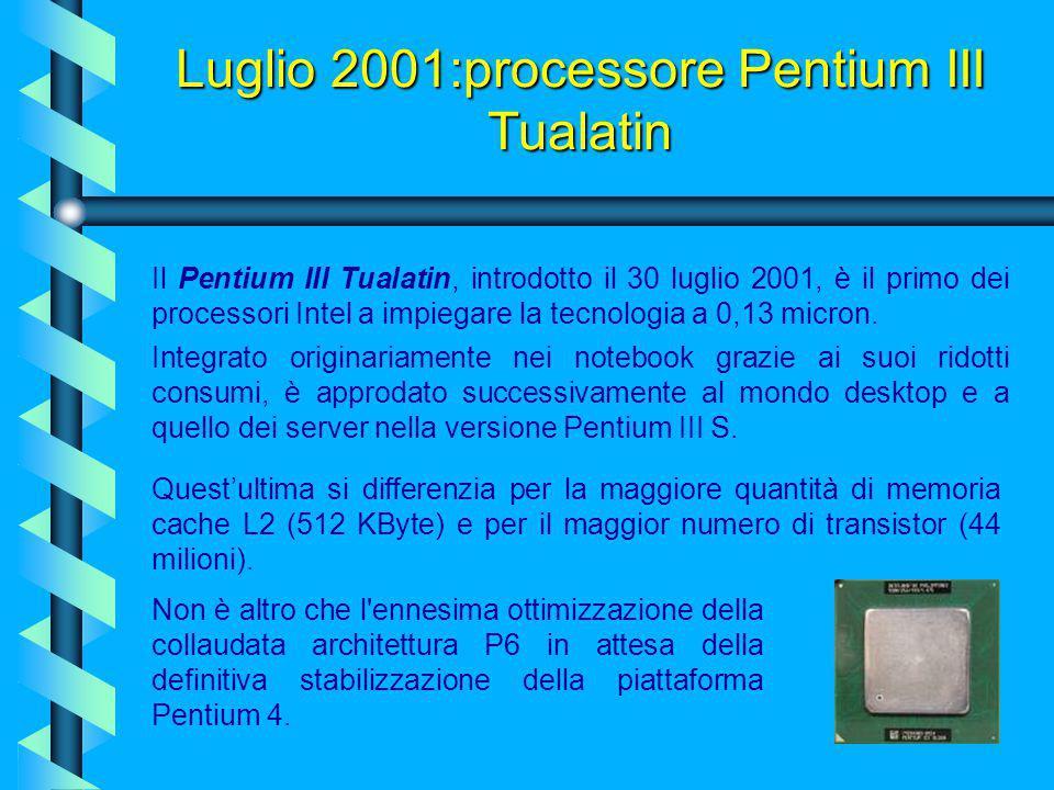 Luglio 2001:processore Pentium III Tualatin