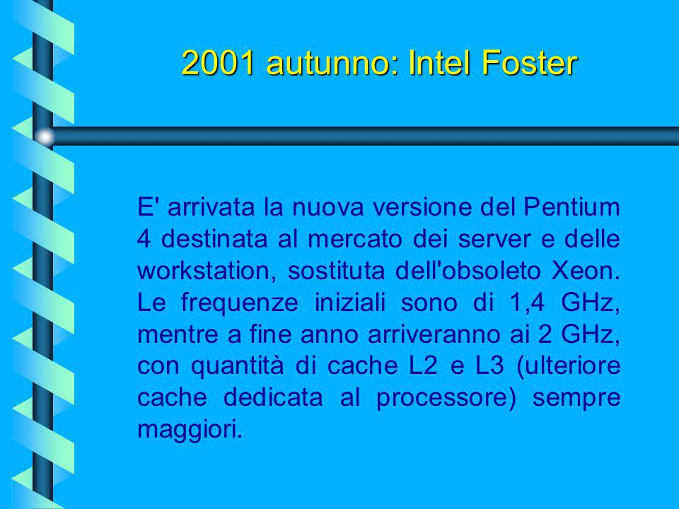 2001 autunno: Intel Foster