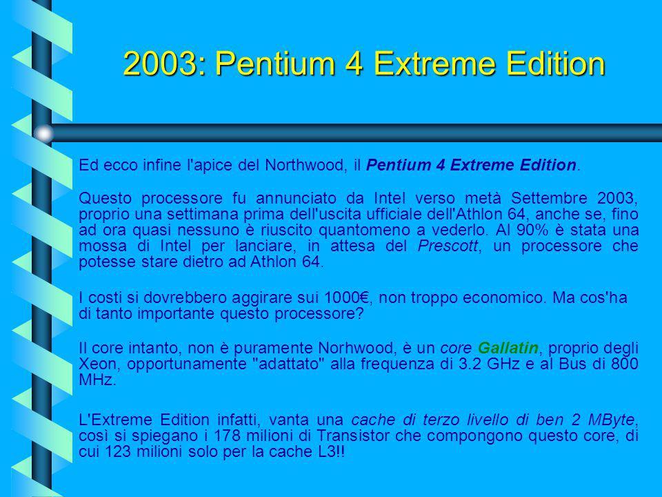 2003: Pentium 4 Extreme Edition