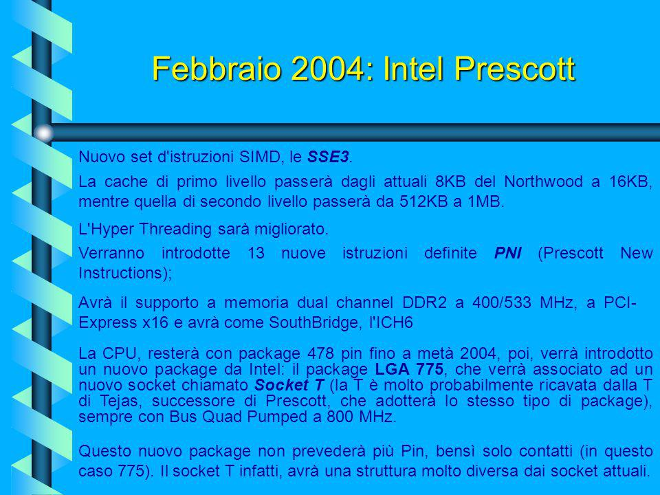 Febbraio 2004: Intel Prescott