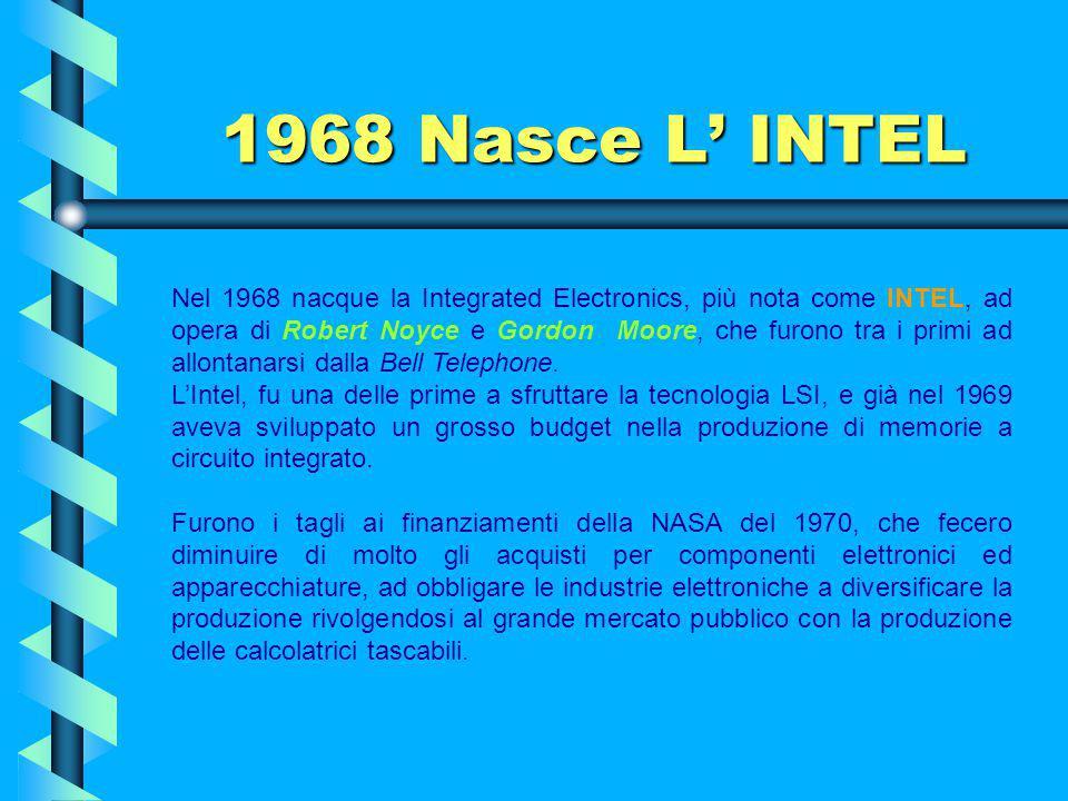 1968 Nasce L' INTEL